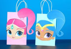 DIY Shimmer and Shine Favor Bags. Simply Download, Print, Cut and Paste. Print as many copies as you need.
