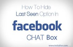 How To Hide Last Seen And Chat Anonymously on Facebook: Amazing Trick