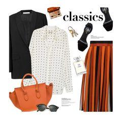 """Wardrobe Staples"" by magdafunk ❤ liked on Polyvore featuring Givenchy, Diane Von Furstenberg, Yves Saint Laurent, Ray-Ban, Clarins, Chanel, rayban, whiteshirt, BlackBlazer and WardrobeStaples"