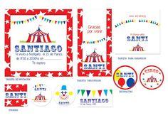 cumpleaños tematicos circo - TARJETAS E INVITACIONES