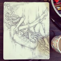 """Artist:Wendy Ortiz""""Warm up sketch. Practicing drawing without expectation."""""""