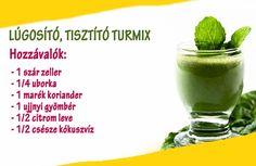 Lúgosító, tisztító turmix   Socialhealth Eating Well, Home Remedies, Cantaloupe, Paleo, Fruit, Tableware, Health, Tea, Drink
