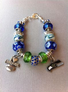 Seattle Seahawks Charm Bracelet by Time2Charm on Etsy, $29.99