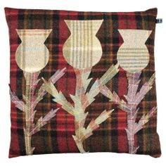 Highland Cow and Thistle Cushions