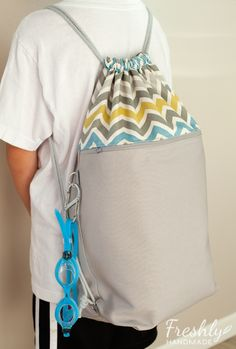 Freshly Handmade: Drawstring Swim Bag
