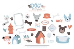 Check out Dogs Life Vector & PSD Clipart by Holly McCaig Creative on Creative Market