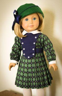 Green-Blue Argyle for 30s-40s by AnnasGirls on Etsy $44.00