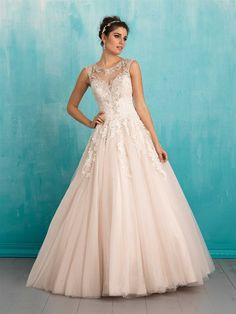 Style 9323 Wedding Dress by Allure: This ballgown is for the bride who believes in her fairytale ending.