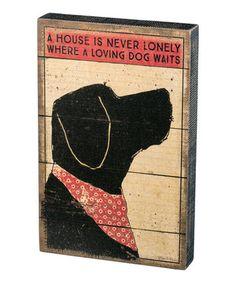 'Where a Loving Dog Waits' Box Sign