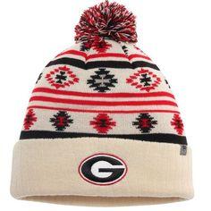 Georgia Bulldogs Top of the World Women's Aztech Cuffed Pom Knit Hat - Cream - $22.99