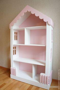 Купить КУКОЛЬНЫЙ ДОМ №14 - розовый, кукольный дом, домик, ЛДСП