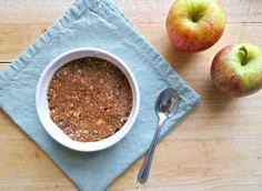 Mini Grain Free Apple Crumbles: gluten free, dairy free, vegan