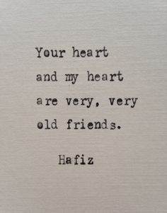 Hafiz love quote hand typed on antique typewriter
