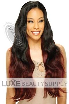 Model Model Equal Synthetic Weaving Brazilian Bundle Wave 18 inch - Lhboutique.com  #SyntheticHairweaves #SyntheticHairExtensions #FullLaceWigs #LaceFrontWigs Bangs Ponytail, Synthetic Hair Extensions, Half Wigs, Stylish Hair, Beauty Supply, Human Hair Wigs, Weave Hairstyles, Hair Pieces, Lace Front Wigs