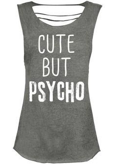 Cute But Psycho - T-shirt van Cute But Psycho