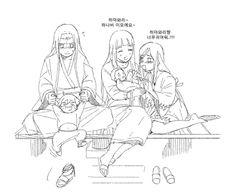 Neji, Boruto, Hinata, Himawari, and Hanabi Naruhina, Hinata Hyuga, Naruto Shippuden Sasuke, Familia Uzumaki, Familia Anime, Naruto Comic, Anime Naruto, Boruto Family, Neji Cosplay
