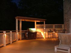 pics of wooden decks with privacy | 13 Trex deck with sunken spa and cedar privacy panels