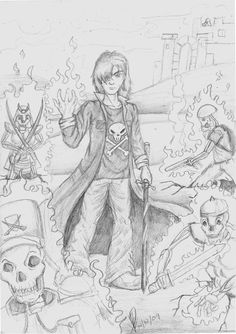 Nico di Angelo in his royal domain, the Underworld