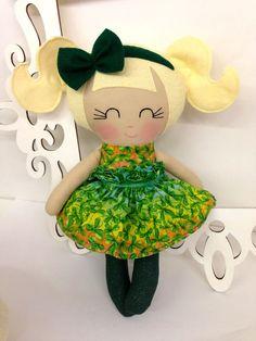 $38.00 St Patrick's Day Handmade Dolls St Patty's by Sew Many Pretties…