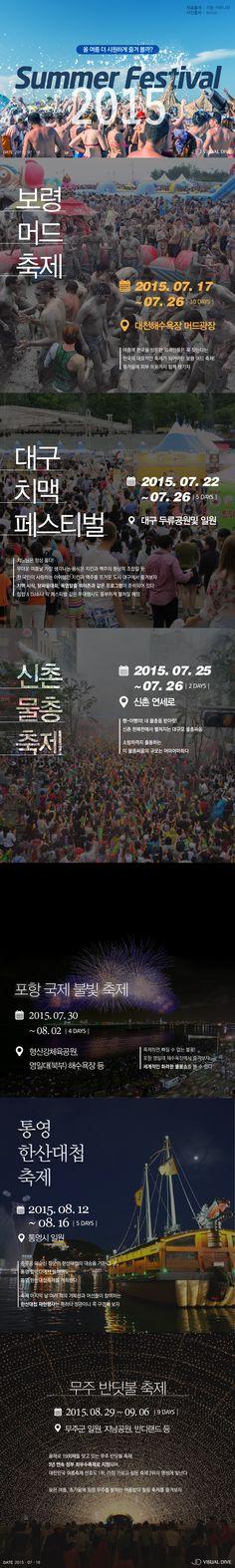 '올 여름을 더 쿨하게!'…2015 여름 축제 TOP6 [인포그래픽] #Summer_Festival / #Infographic ⓒ 비주얼다이브 무단 복사·전재·재배포 금지