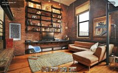 The excellent Industrial Style Living Room Interior Design Ideas For Industrial Living Room Ideas picture below, is section of Industrial … Loft Industrial, Industrial Interior Design, Industrial Living, Living Room Interior, Interior Design Living Room, Living Room Decor, Industrial Apartment, Industrial Decorating, Industrial Furniture