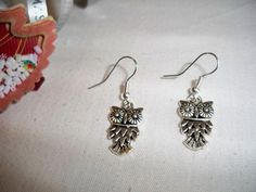 Lovely Hand-Made Tibetan Silver Earrings~Cutie Owls~LOOK at Those Little Faces