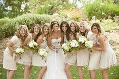 Bridesmaids in lace. #wedding #bridesmaids