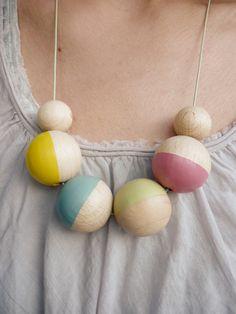 """Halskette """"Strandboje Pastell III"""" by liebelu  (http://de.dawanda.com/product/27681449-Halskette-Strandboje-Pastell-III)"""
