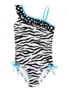 Zebra One Piece Swimsuit from justice