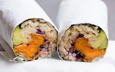 Behold; the sushi burrito! You love sushi and you love burritos, so why not combine them for a tasty two-in-one lunch?
