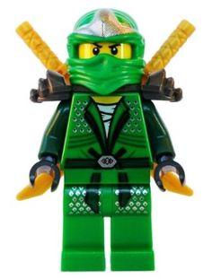 Lloyd ZX (Green Ninja) avec Dual Gold Swords - LEGO Ninjago Minifigure