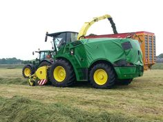 The new John Deere forager out doing performance tests