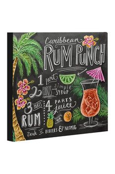 Rum Punch Canvas - Gray/Multi
