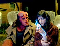 "Ron Perlman, Selma Blair in ""Hellboy"" (Guillermo del Toro, 2004)"