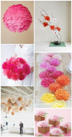 Tissue Paper Ball Decorations Paper Tissue Pom Poms As Cake Decoryes Please Party