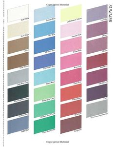 Color Me Beautiful, Summer Seasonal Palette Summer Color Palettes, Soft Summer Color Palette, Color Me Beautiful, Winter Colors, Summer Colors, Seasonal Color Analysis, Summer Shades, Fashion Colours, Season Colors