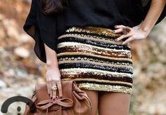 Find outfit ideas, shopping, and street style inspiration to help you get. Outfit 2016, Cute Skirts, Mini Skirts, Tight Skirts, Mode Style, Style Me, Girl Style, Sparkle Skirt, Look Fashion