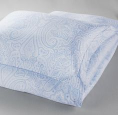 Italian Washed Sateen Paisley Duvet Cover $99