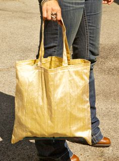 Light Yellow Indian Silk Tote Bag on Etsy, $24.00