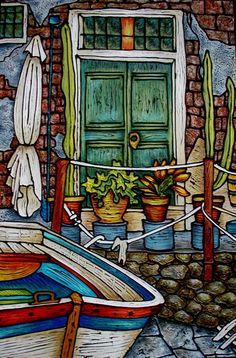chrissandra unger - Google Search Cinque Terre, Sweet Life, West Coast, Texture, Google Search, Antiques, Painting, Art, Antiquities