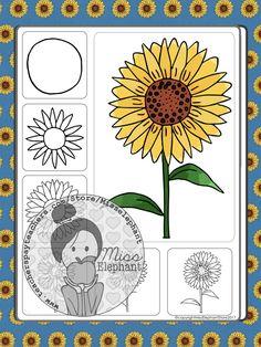 Back to School Art Activities (September Directed Drawings) Back To School Art Activity, Art School, Sunflower Drawing, Directed Drawing, Easy Art Projects, Autumn Art, Grade 2, Simple Art, Art Activities
