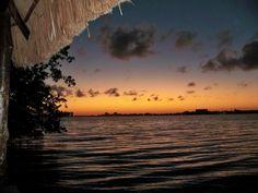 Watching the beautiful #sunset on Nichupte Lagoon in #Cancun.