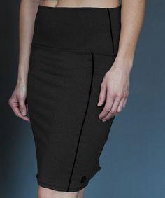 Another great find on #zulily! Black Uptown Skirt by Georgie #zulilyfinds