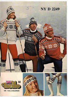 VM 1978 Vintage Knitting, Crochet Clothes, Norway, Knit Crochet, Knitting Patterns, Baseball, Wool, Knits, Sweaters
