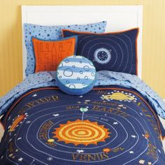 The cutest boy's bedding.  Excellent quality.  A perfect design for all ages.  You won't have to switch decor for years to come.