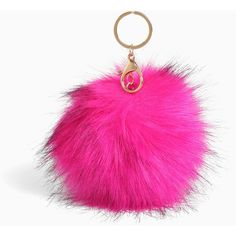 Torrid Faux Fur Key Chain ($6.90) ❤ liked on Polyvore featuring accessories, long key chains and fob key chain