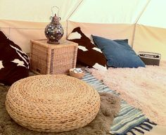 Loungeabout in a Bell Tent