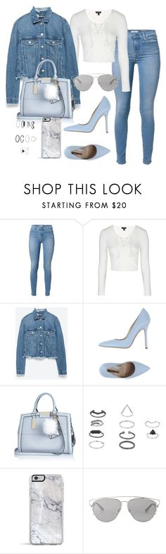 """""""Untitled #3729"""" by lilaclynn ❤ liked on Polyvore featuring Topshop, Zara, Norma J.Baker, River Island, Christian Dior, Dior, topshop, zara and RiverIsland"""
