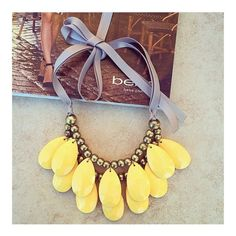 Anthropologie statement necklace Lovely yellow statement necklace Anthropologie Jewelry Necklaces