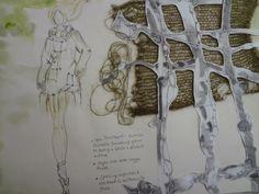 Sketch Book Fashion Illustrations by Jess Hazley, via Behance